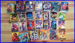 1200+ Marvel Collectible Trading Card Lot X-Men Spiderman Punisher