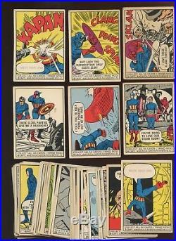 1966 Donruss Marvel Comics Non Sport Trading Card Near Set 53 Different F/VGEX+