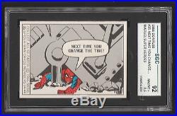 1966 Donruss Marvel Super Heroes #35 Spiderman Next Time You Sgc 8.5 Nm/mt+ 92