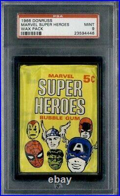 1966 Donruss Marvel Super Heroes Wax Pack PSA 9