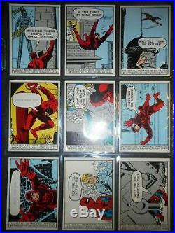 1966 Marvel Super Heroes Complete (66) Card Set & Wrapper Donruss
