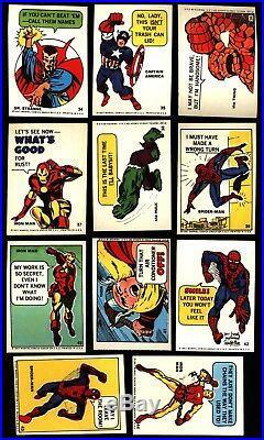 1967 Philadelphia Marvel Super Heroes Sticker Set 55 Ex / Nm-mt Spider Man Thor