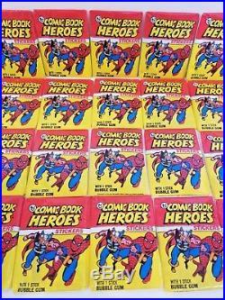 1974 Topps COMIC BOOK HEROES Full 36 Ct. Wax Box Spiderman Capt America MARVEL