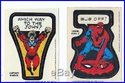 1975 Topps Captain Marvel Which Way To The John Variant Sticker Marvelmania