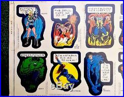 1975 Topps Marvel Comic Book Heroes Stickers RARE Uncut Sheet