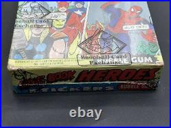 1975 Topps Marvel Comic Book Heroes Wax Pack Box BBCE Avengers Trading Cards