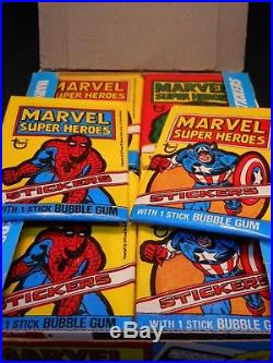 1976 Topps Marvel Super Heroes 36ct Wax Pack Box