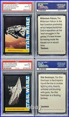 1977 Star Wars Wonder Bread Trading Card Complete Set (15 PSA 10, 1 PSA 9)