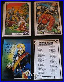 1989 Marvel Arthur Adams Comic Images Trading Card Set + Header Card