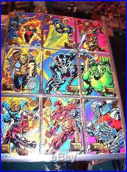 1990, 1991, 1992, 1993, 1994, Marvel Universe Complete 5 Card Sets! + Free