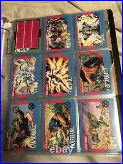 1990,1991 marvel comics trading cards complete sets With Holograms