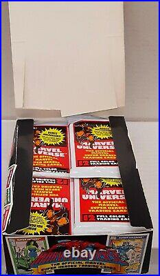 1990 IMPEL MARVEL UNIVERSE SERIES 1 TRADING CARDS FULL BOX of 36 SEALED PACKS
