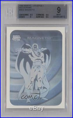 1990 Impel Marvel Comics Super Heroes Holograms #MH2 Magneto BGS 9 Card k4g