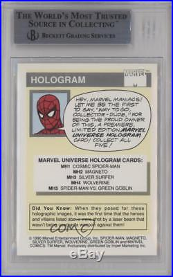 1990 Impel Marvel Comics Super Heroes Holograms #MH2 Magneto BGS 9 MINT Card k4g