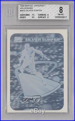1990 Impel Marvel Comics Super Heroes Holograms MH3 Silver Surfer BGS 8 Card k4g