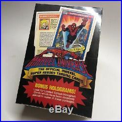 1990 Impel Marvel Universe Series 1 Sealed Box Of 36 Packs / Multiples