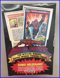 1990 Impel Marvel Universe Series One 1 Trading Cards Sealed Box Mint Condition