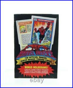 1990 Impel Marvel Universe Trading Cards 36 Pack NO SEAL COMPLETE BOX
