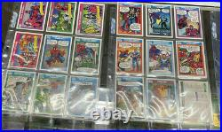 1990 MARVEL UNIVERSE SERIES 1 COMIC TRADING CARD COMPLETE SET 1-162 No Holos
