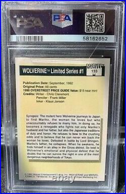 1990 Marvel Universe #133 Wolverine Limited Series PSA 10 Gem Mint Trading Card