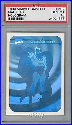 1990 Marvel Universe I Holograms #MH2 Magneto (PSA 10)