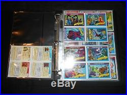 1990 Marvel Universe Master Card Set Chase, Promos, Binder Very Rare