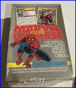 1990 Marvel Universe Series 1 And 2 Sealed Trading Card Box Lot Holograms