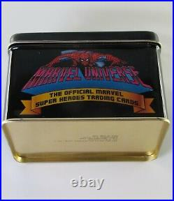 1990 Marvel Universe Series 1 Premier Edition Trading Card Tin Complete Set