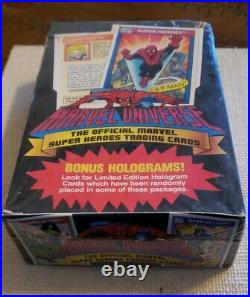 1990 Marvel Universe Series 1 Trading Cards BOX of 36 SEALED PACKS with Holograms