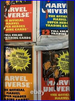 1990 Marvel Universe Series 1 Trading Cards Box From New Sealed Case! 36 Packs
