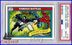 1990 Marvel Universe Spider-Man Vs Venom Trading Card Famous Battles PSA 10 #106