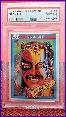 1990 Marvel Universe Stan Lee Mr Marvel PSA 10 GEM MINT #161 (trading card)
