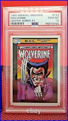 1990 Marvel Universe Wolverine Limited Series PSA 10 GEM MINT #133 -trading card