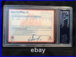 1990 Wonder Bread Stars #18 Ken Griffey Jr Gem Mint Psa 10 Pop 11 Hof Career