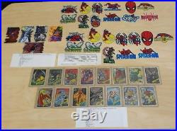 1990s MARVEL MASTERPIECES SPIDER-MAN X-MEN PRISM VENDING STICKER FOIL LOT OF 607