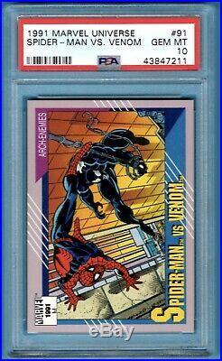 1991 Marvel Universe Spiderman Vs Venom PSA 10 Impel LOW POP