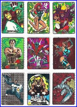 1992 92 Marvel Masterpieces Vending Prism Sticker Set (25) VERY RARE