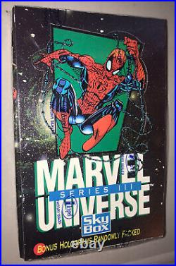 1992 Impel Marvel Universe Series Three 3 Trading Cards Sealed Box 36 Packs Mint
