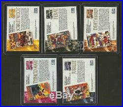 1992 Marvel Masterpieces 119 Card Complete Master Set Spectra Promos Lost Ex/nm