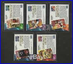 1992 Marvel Masterpieces 119 Card Master Set Spectra Promos Lost Cards Wolverine