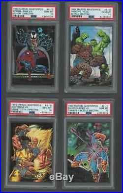 1992 Marvel Masterpieces Battle Spectra Complete Set #1 PSA Set Registry PSA 10