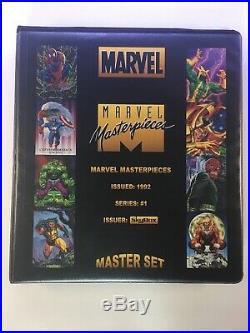 1992 Marvel Masterpieces Master Set Promo, Prototype, Spectra & Marvel Pop Ups