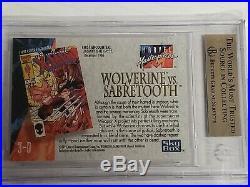 1992 Marvel Masterpieces Wolverine Vs Sabretooth 3-D BGS 9.5 Gem Mint
