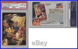 1992 SkyBox Marvel Masterpieces #3-D Wolverine vs Sabretooth PSA 10 GEM MT 2ph