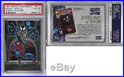 1992 SkyBox Marvel Masterpieces #4-D Spider-Man vs Venom PSA 10 GEM MT READ 2ph