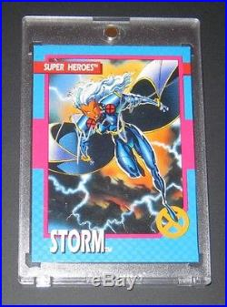 1992 X-Men Series I Storm JIM LEE AUTOGRAPH Insert Card with Embossed Seal, Marvel