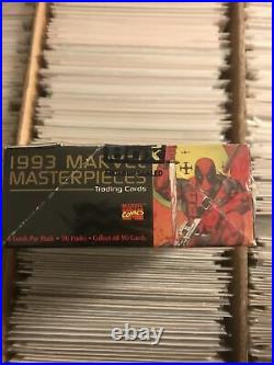 1993 MARVEL MASTERPIECES SEALED TRADING CARDS NUMBERED SKY BOX SEND 2 PSA comics