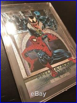 1993 Marvel Masterpiece SpiderMan Vs Venom VERY RARE