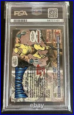 1993 Marvel Masterpieces #6 Wolverine PSA 10 Gem Mint Trading Card Low POP