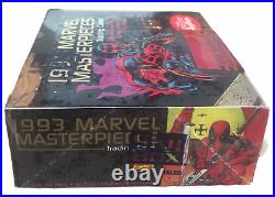 1993 Marvel Masterpieces Hobby Box NEW MISB Sealed SkyBox 36 Packs Trading Cards